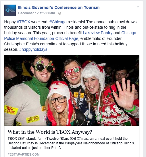 TBOX was selected by the the Illinois Governor's Conference on Tourism as one of the things to do!