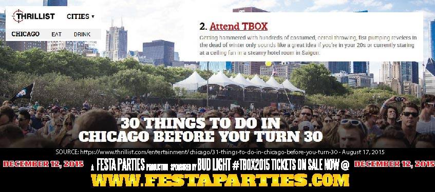 TBOX was voted #2 on Thrillist's Top 30 Things To Do Before You Turn 30