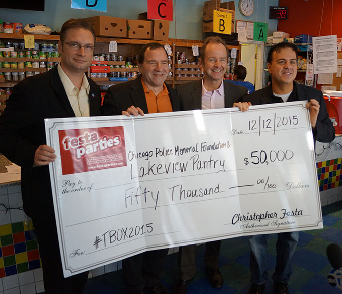 Festa Parties Donates to Local Chicago Charities / TBOX 2015