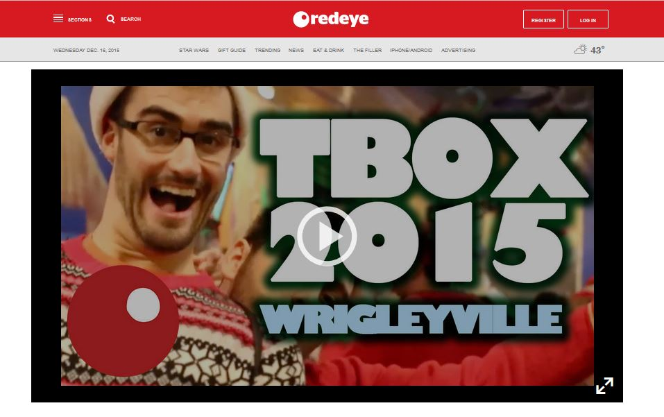 Chicago RedEye Newspaper Features TBOX 2015 Pub Crawl