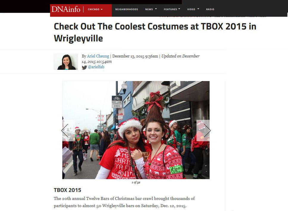 TBOX 2015 #TBOX Featured in DNAInfo DNA Info Chicago Blog