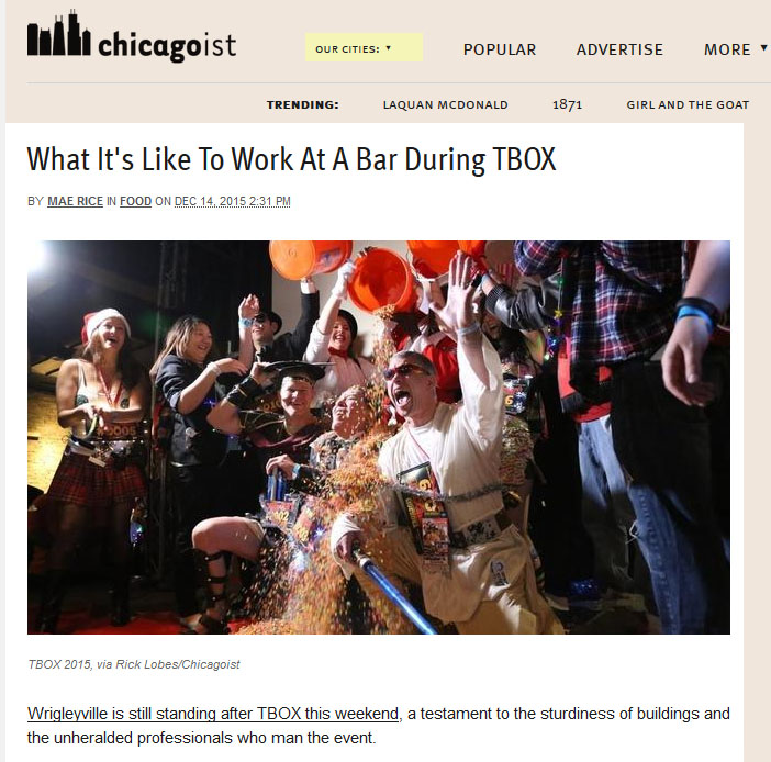 Chicagoist TBOX Article