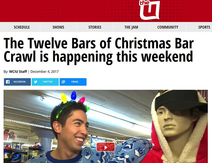 TBOX Pub Crawl, TBOX Bar Crawl, 12 Bars of Xmas, Twelve Bars of Xmas, Twelve Bars of Christmas, World's Largest Pub Crawl