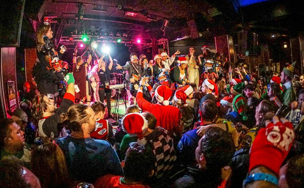 Stache Band at TBOX 2019 Twelve Bars of Xmas Chicago Bar Crawl December 14
