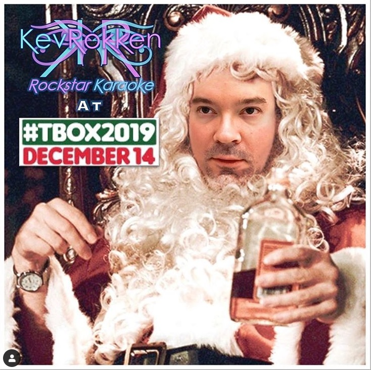 DJ Kev Rokken at TBOX 2019 Twelve Bars of Xmas Chicago Bar Crawl December 14 2019