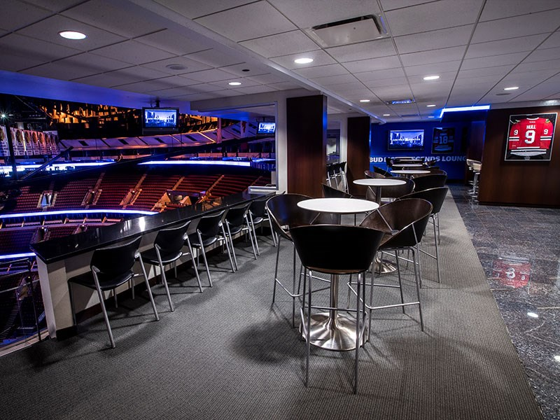 Bud Light Legends Lounge at United Center for Bulls Games TBOX 2019 12 Bars of Xmas Bar Crawl