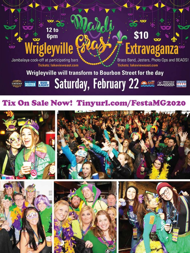 Wrigleyville Mardi Gras Extravaganza / BeadQuest / BeadQuest2020 / Chicago Mardi Gras / Chicago Festival / Chicago Pub Crawl / Chicago Bar Crawl / Wrigleyville Bar Crawls