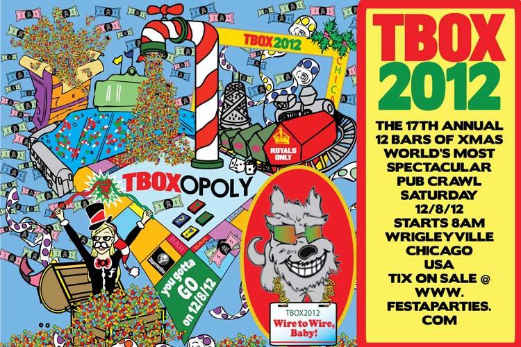 TBOX 2012 / TBOXOPOLY / Twelve Bars of Xmas Chicago Bar Crawl