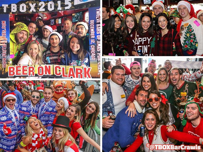 TBOX Bar Crawl - Chicago 12 Bars of Xmas Wrigleyville Christmas Pub Crawl
