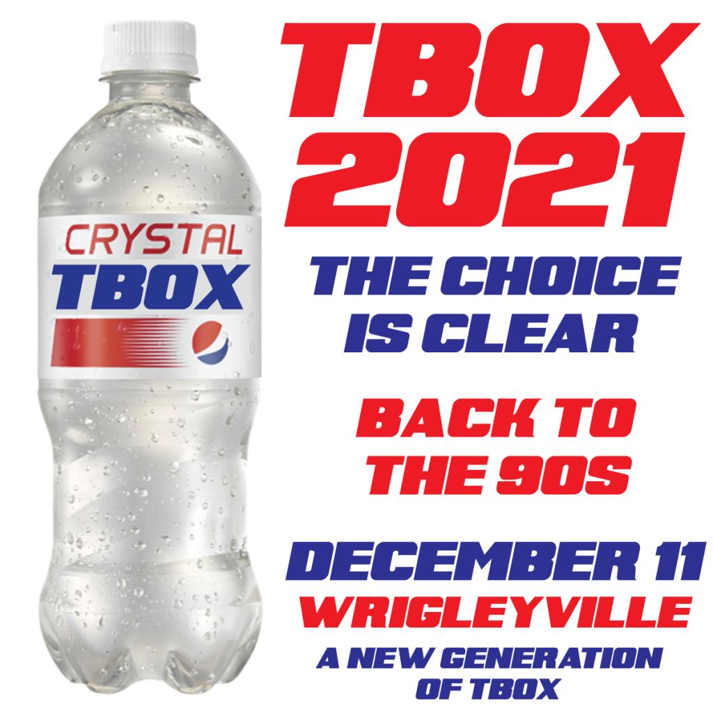 TBOX2021 - 12 Bars of Xmas Chicago Christmas Bar Crawl - 90s Themed Pub Crawl - Crystal Pepsi