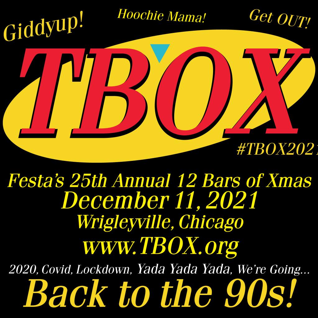 Seinfeld - TBOX2021 - 12 Bars of Xmas Chicago Christmas Bar Crawl - 90s Themed Pub Crawl