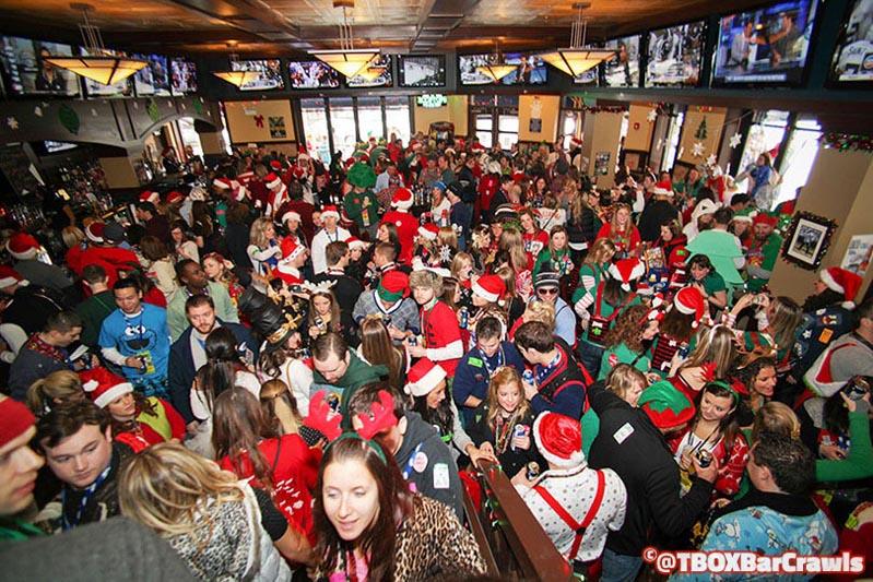 Wrigleyville Chicago 12 Bars of Christmas Pub Crawl - TBOX