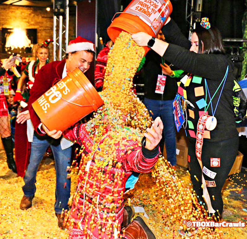 Cereal at the Chicago TBOX Christmas Bar Crawl