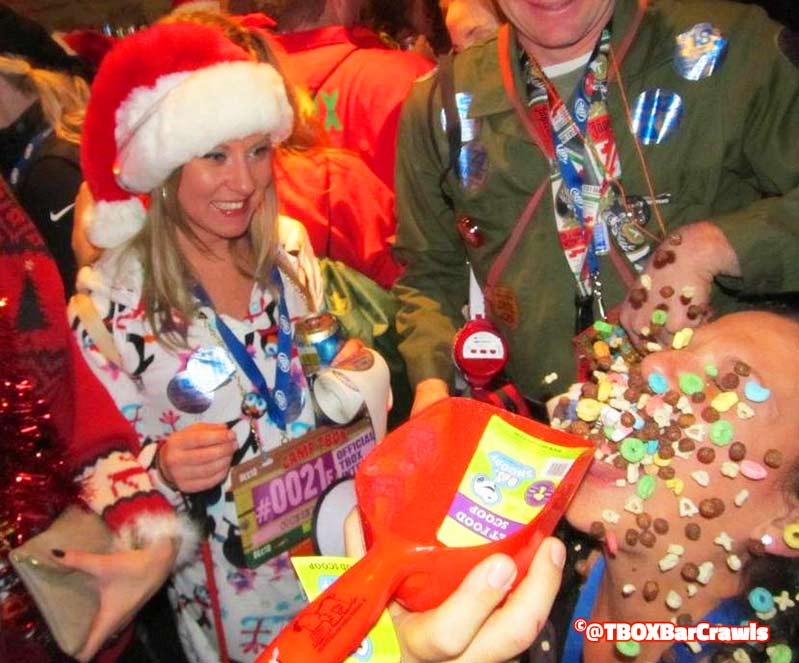 Cereal Shots at the Wrigleyville Christmas Pub Crawl - TBOX by Festa Parties