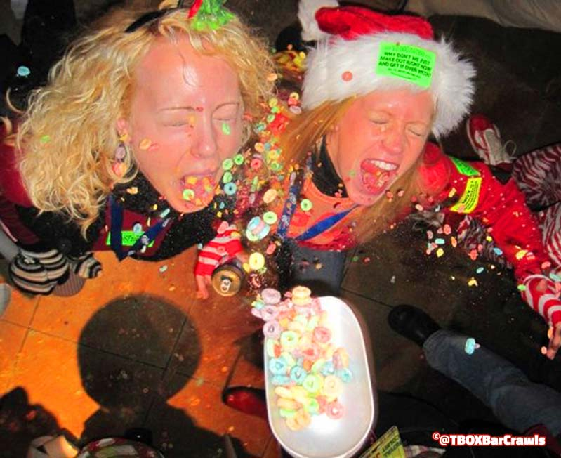 Cereal at the Wrigleyville TBOX Chicago Christmas Bar Crawl