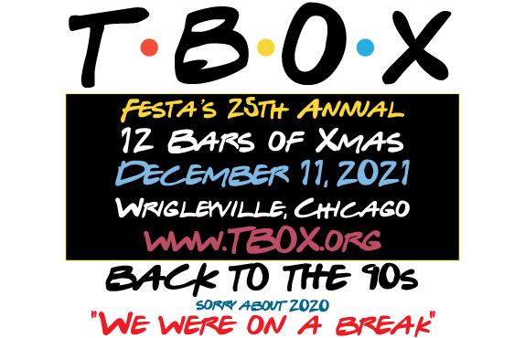 TBOX Bar Crawl - 12 Bars of Xmas 2021 90s Theme - 90s-Themed Chicago Bar Crawl