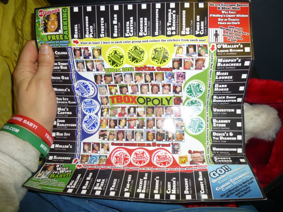 Completed Game Board from TBOX 2012 - TBOXOPOLY