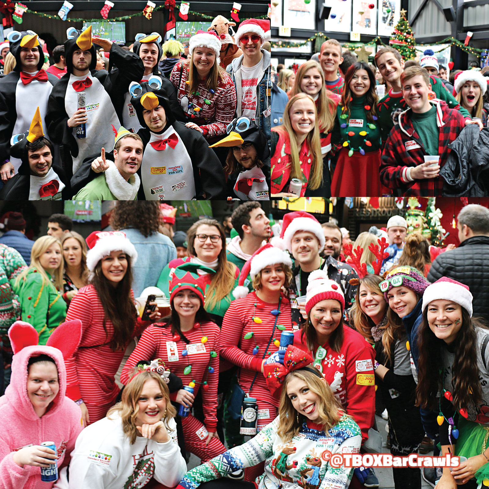 TBOX - 12 Bars of Xmas Chicago Wrigleyville Bar Crawl - Chicago Christmas Pub Crawl - TBOX - T-Box Festa Parties