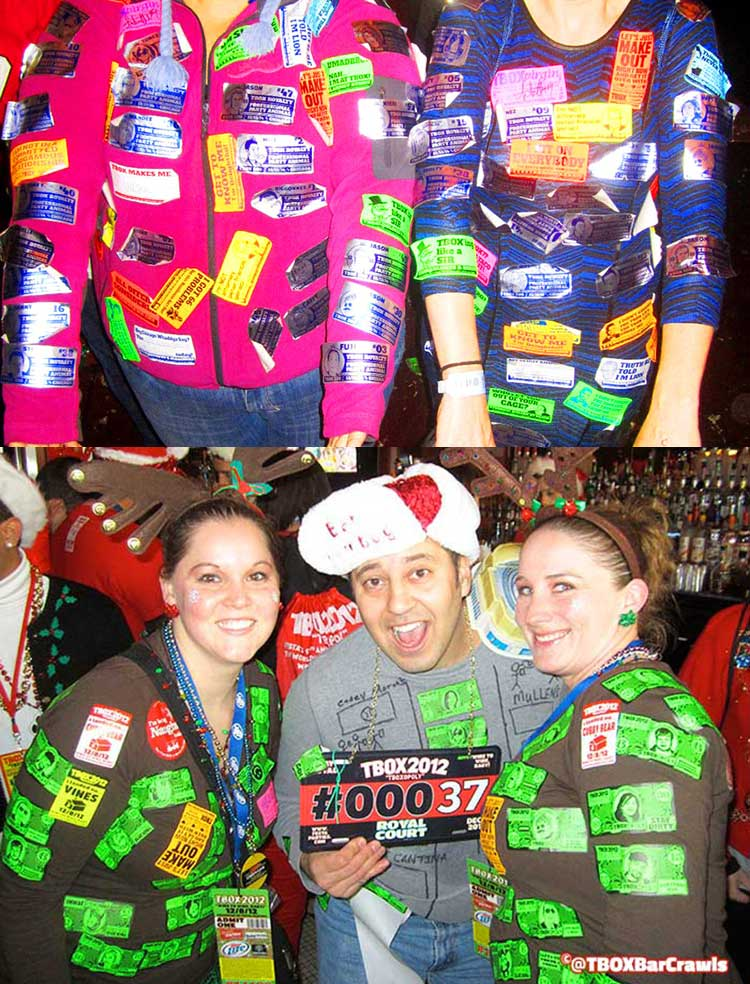 Stickers at TBOX Bar Crawl - Chicago Christmas Crawl, Wrigleyville Christmas Pub Crawl