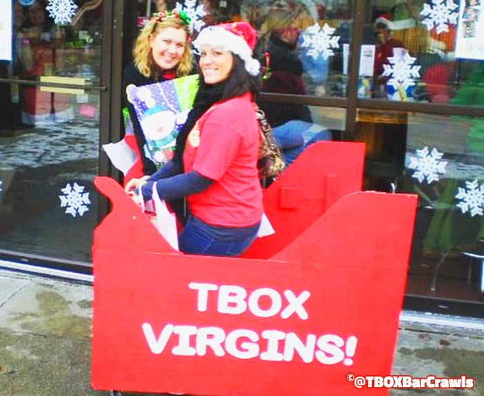 TBOX Virgins at TBOX in 2008 - 12 Bars of Xmas Pub Crawl in Chicago