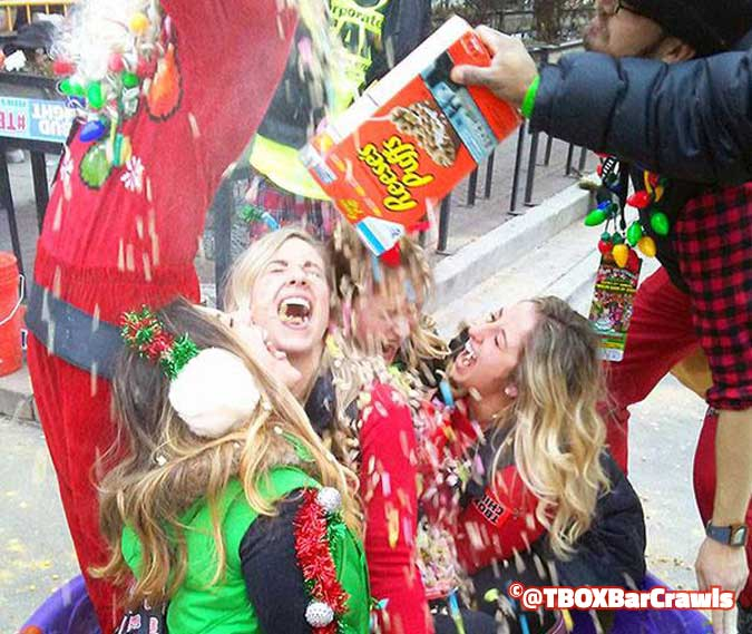 Losing your TBOX Virginity at the 12 Bars of Xmas Pub Crawl in Chicago
