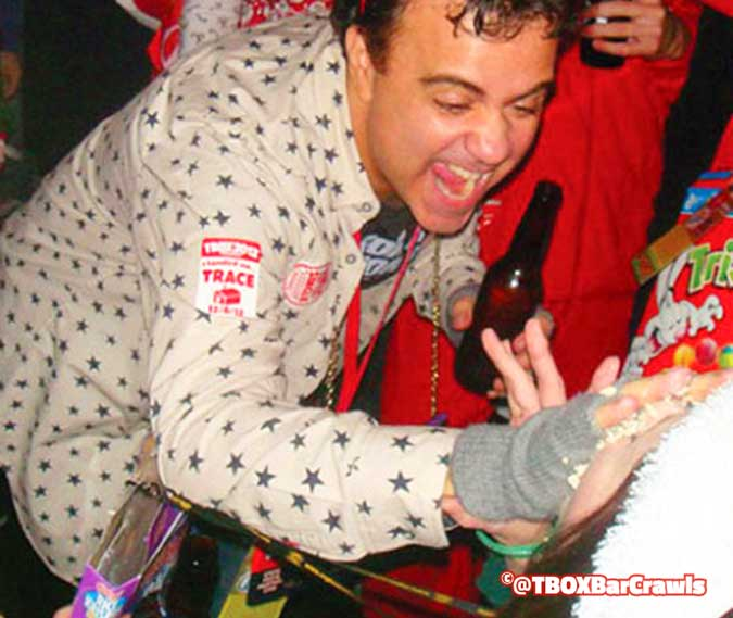 Mr Christopher Festa giving a Cereal Shot at TBOX