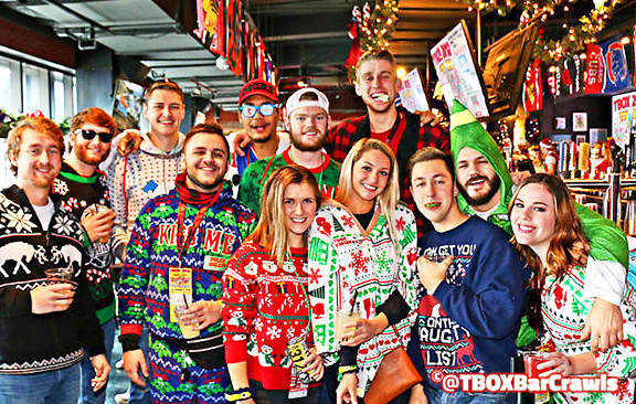 TBOX Bar Crawl - Wrigley Chicago Christmas Pub Crawls - Festa Parties 12 Bars of Xmas