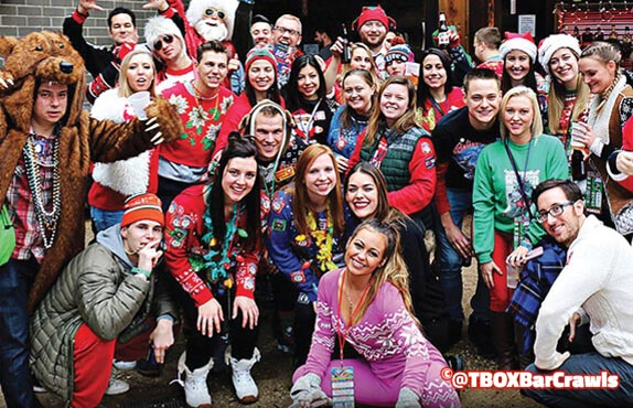 TBOX 2021 - Chicago 12 Bars of Xmas Wrigleyville Pub Crawl - Twelve Bars of Christmas Bar Crawl - #TBOX2021